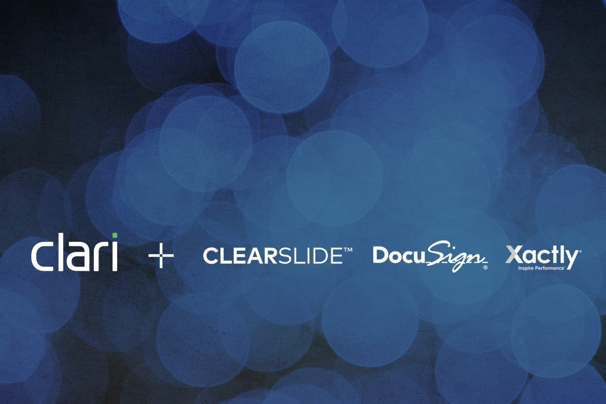 Welcome ClearSlide, DocuSign and Xactly to Clari's Opportunity-to-Close Ecosystem